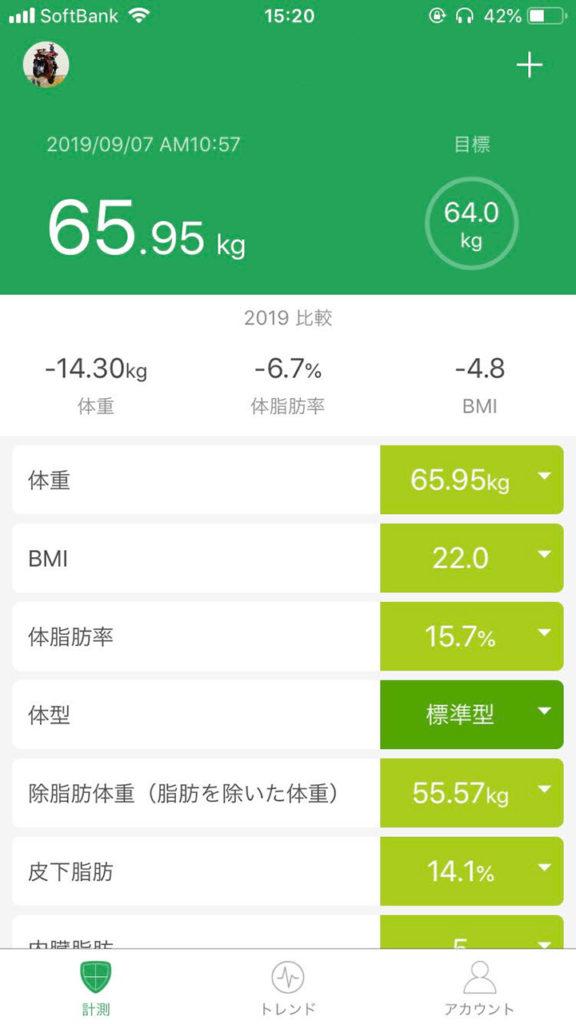 M-healthアプリ画面