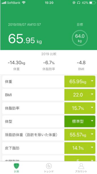 体重計アプリ画像